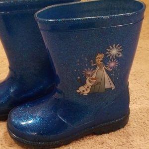 Frozen Elsa rainboots size 10 toddler